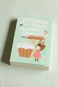 Kawaii Memo Pad - My Happy Story cupcake!!