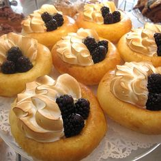 """Meyer Lemon Meringue Brioche with Fresh Blackberries!"""