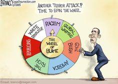 Terror Attack Blame | Political Cartoon | A.F.Branco | Red Right Republic