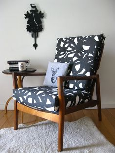 tangoandjames: Revamped retro armchair with fab new upholstery