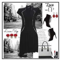 """No. 277 Lace-Up"" by closetfabulous ❤ liked on Polyvore featuring Alexander McQueen, The French Bee, Christian Dior, Nine West and laceup"