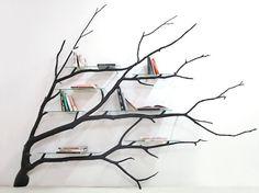 Fallen Tree Branch Turned Into an Amazing Shelf