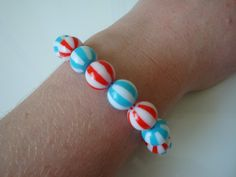 Beach Ball Bracelet by traceysjewellery on Etsy, £3.99
