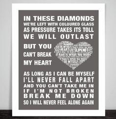 Slipknot If Rain Is What You Want  music song lyrics Word Art Print Poster Love