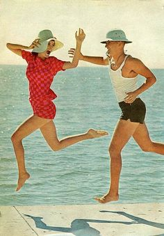 Leaping    From Mademoiselle, June 1965. From an article about summer.