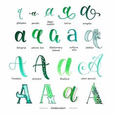 Variationen Buchstabe A - Handlettering Typography will be the craft as well as manner of Hand Lettering Alphabet, Doodle Lettering, Creative Lettering, Calligraphy Letters, Brush Lettering, Typography, Calligraphy Alphabet Tutorial, Bullet Journal Font, Journal Fonts