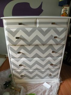 DIY Painted Dresser - I'm trying to find something to do w/ heath's icky dresser when we move. lol any other ideas are appreciated!