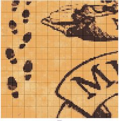 MARAUDER MAP 100X100   Designed by Jen Worline   Stitch Fiddle - Stitch Fiddle