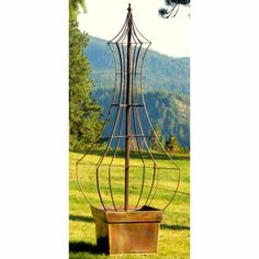 Genie Garden 5.5 ft. Iron Obelisk Trellis