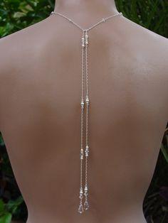 Bridal Lariat Necklace with Swarovski Pearls by handmadebydiana, $64.00