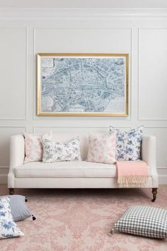 simone rug in blush | A stunning over-dyed Persian rug created in perfect shades of blush. Dress it up with coordinating pillows or juxtapose it with casual furnishings for a layered look.  From foyers to dining rooms, bedrooms, and kitchens- this versatile rug works beautifully for both the modern and traditional.