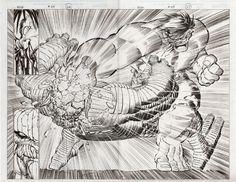 John Romita Jr. Hulk #25 Double Page Splash Comic Art