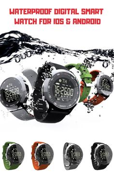 Waterproof Digital Smart Watch For IOS & Android Stylish Watches, Cool Watches, Watches For Men, Outdoor Survival Gear, Outdoor Gear, Survival Stuff, Outdoor Apparel, Outdoor Stuff, Tactical Watch