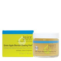 Green Apple Peel Sensitive, Organic, Natural Facial Peel Juice Beauty. This stuff is amazing at fading spots from the sun or acne!