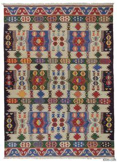K0012417 New Turkish Kilim Rug | Kilim Rugs, Overdyed Vintage Rugs, Hand-made Turkish Rugs, Patchwork Carpets by Kilim.com