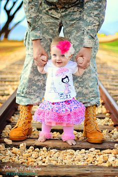 so cute! Love military daddies and their little girls ^_^ Design  by http://photo-sharpen.com