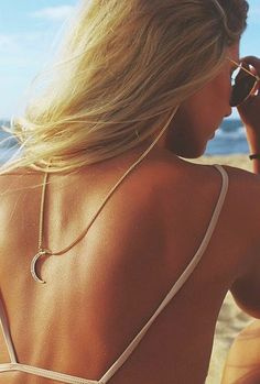 The Salty Blonde wearing our Moon Backlace sunglass strap. Eyeglasses, Sunnies, Eyewear, My Style, Women, Beach Fashion, Chains, Beach Blonde, Beach Clothes