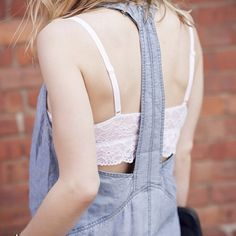 It's all about the back detail.  #chambray #dress #back #style #street #style #addisonny