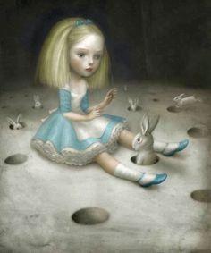 ilustración, imaginación, vintage, creatividad, cuento, Alicia en el País de las Maravillas