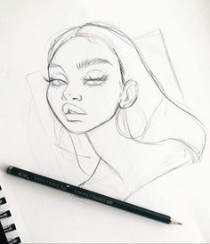 Here's a lil sketch from the other day 🐣 Art Drawings Sketches Simple, Girl Drawing Sketches, Pencil Art Drawings, Cool Drawings, Arte Sketchbook, Cartoon Art Styles, Aesthetic Art, Drawing People, Art Tutorials