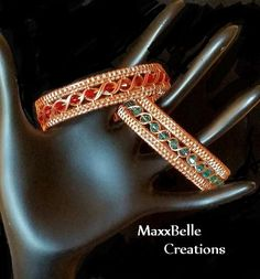 TUTORIAL  Egyptian Wire Weave Bracelet par MaxxBelleCreations                                                                                                                                                      More