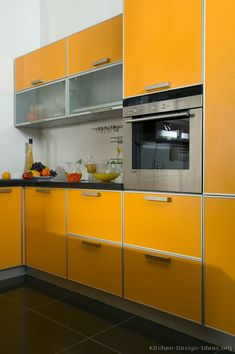 91 Best Orange Kitchens Images In 2019 Contemporary
