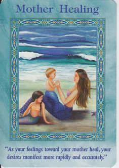 Mother Healing Card Extended Description - Mermaids and Dolphins Oracle Cards by Doreen Virtue Chakra Healing, Angel Readings, Free Angel, Angel Guidance, Spiritual Guidance, Oracle Tarot, Doreen Virtue, Angel Cards, Card Reading