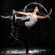 Yoga in the Rain - I want to do this one day!