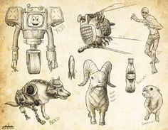 Fallout New Vegas Sketch Dump by velocitti.deviantart.com on @deviantART