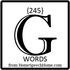 245+ G Words for Speech Therapy Practice Speech Pathology, Speech Language Pathology, Speech And Language, Speech Therapy, G Words, Words To Use, Articulation Therapy, Articulation Activities, Love Speech