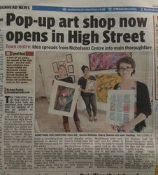 In the Press - Art on the Street - News & Projects Pop Up Art, Shop Now, Street, Projects, Shopping, Fairy, Blue Prints, Roads, Walkway