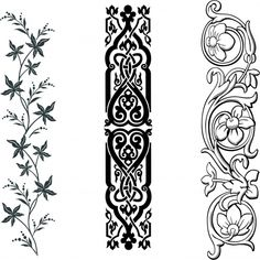 Inspiration - transfer pictures with lace, line pattern PaGi Decoplage Wood Carving Designs, Stencil Designs, Embroidery Motifs, Embroidery Designs, Engraving Art, Ornaments Design, Border Design, Islamic Art, Pattern Art