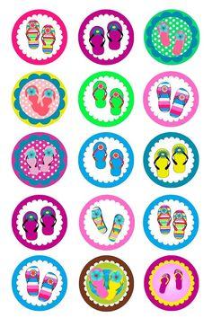 (62) Summer theme; flip flops