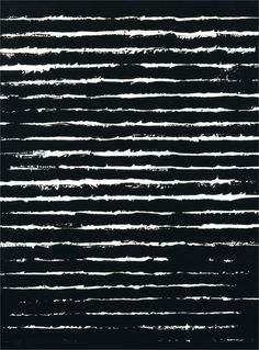 Distressed Stripes - black & white striped pattern // Pierre Soulages