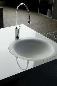 Imagine a permeable bowl with no visible drain. Rather the water soaks through the surface