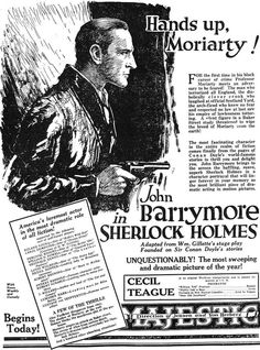 Sherlock Holmes 1922    Theatre flyer