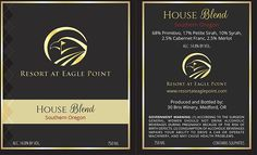 """A great job by Kelly on a new wine label design for our good friends at """"Resort at Eagle Point."""" Cheers!"""