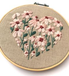Excited to share this item from my shop: Floral Heart Wild Flowers Embroidery Kit with Embroidery Pattern and Embroidery Supplies Embroidery Hearts, Floral Embroidery Patterns, Creative Embroidery, Embroidery Supplies, Hand Embroidery Stitches, Embroidery Hoop Art, Vintage Embroidery, Cross Stitch Embroidery, Modern Embroidery