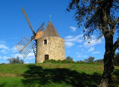 windmill. Grimaud, France