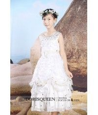 Inflorescence Beaded flower girl dress H002