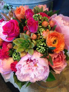 Love the colors. The Florist at Mahoney's. Tewksbury #wedding #bouquet