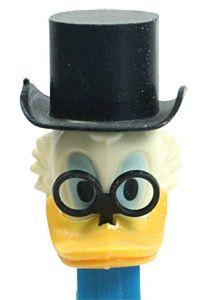 Pez Scrooge McDuck with broken feet.  (Box #2)