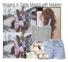 """""""Vlogging in Santa Monica with Madelyn"""" by rowenafsouriya ❤ liked on Polyvore featuring Topshop, Aéropostale, Sony, Eos and Converse"""
