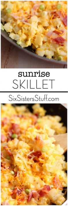Sunrise Skillet on Six Sisters Stuff is so easy to make and tastes delicious!