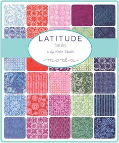 Latitude Batik Layer Cake  Kate Spain  Moda  by SewcialStitch1998