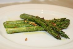 Garlic Asparagus made easy in the Air chef air frying oven.