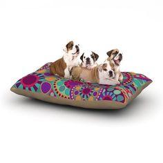 "East Urban Home Nika Martinez 'Valencia' Dog Pillow with Fleece Cozy Top Size: Large (50"" W x 40"" D x 8"" H)"