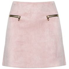 Dusty Pink Suede Zipper Mini Skirt - Suede A Line Skirt ($99) ❤ liked on Polyvore featuring skirts, mini skirts, bottoms, saias, zipper mini skirt, zipper skirt, zip skirt, faux-leather skirts and faux suede skirt