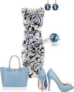 Floral and shade of powder blue