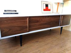 Foresta Credenza with Record Player Pull-Out Tray by STORnewyork